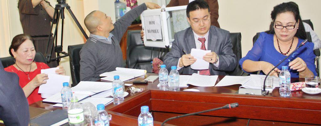Ban Thường vụ bỏ phiếu bầu Tổng Biên tập Báo Sức khỏe Cộng đồng